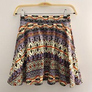 💐Vibe tribal print skater skirt